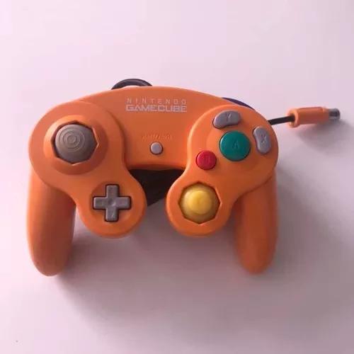 Controle gamecube game cube laranja original nintendo