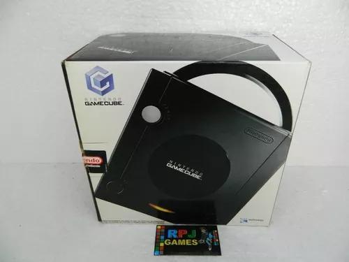 Game cube pronto para jogar com caixa, manual fonte controle