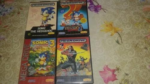 Lote jogos mega drive tectoy todos completos para coleção.