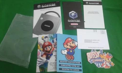 Manual game cube original americano com panfletos