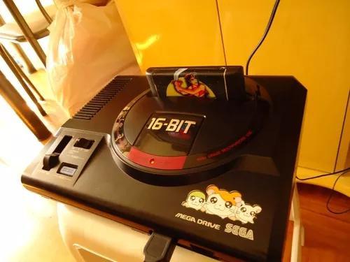 Mega drive 16 bits conservadíssimo com 6 cartuchos