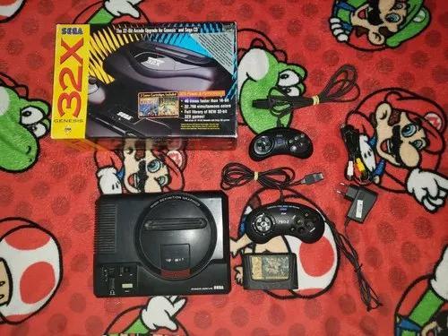 Sega 32 x completo com caixa manual e os metais + 2 jogos...