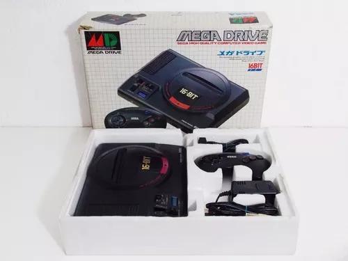 Sega mega drive na caixa japones 16bit
