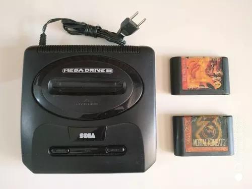 Video game mega driver 3 tectoy original 2 controle completo