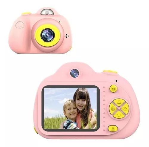 Camera foto digital infantil - kids + cartão sd 8gb brinde