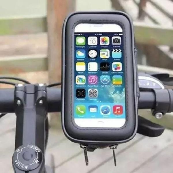 Capa case suporte para celular moto guidão impermeável