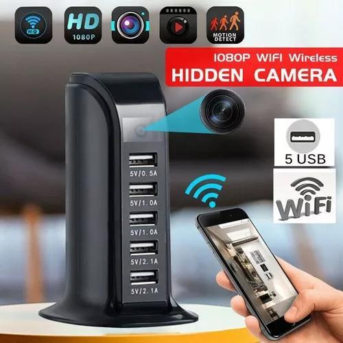 Carregador espiao usb c 5 portas via wifi de qualquer part