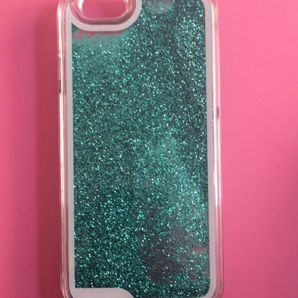 Case iphone 6/6s - glitter verde lindooo