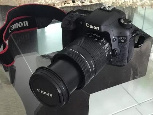 Câmera canon eos 7d lente efs 18-135mm