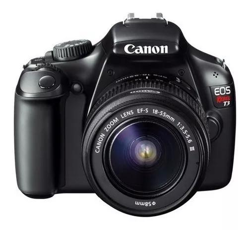 Câmera canon eos rebel t3 + lente 18 - 55 mm