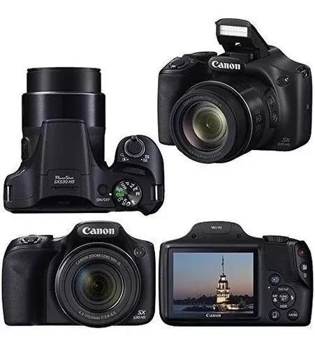 Câmera canon powershot sx530 hs - 16mp - zoom ótico 50x