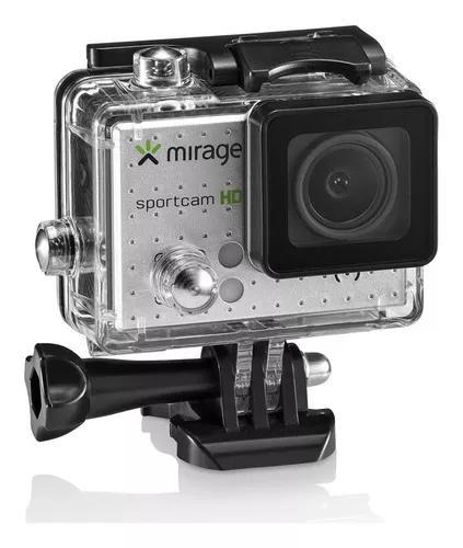 Câmera de ação mirage sport mr3000 prata + 16gb m
