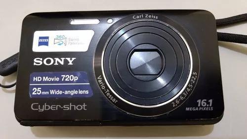 Câmera e filmadora cyber-shot sony dsc w650 preta