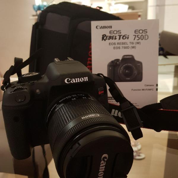 Câmera fotográfica canon rebel t6i
