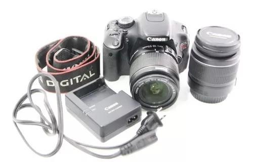 Câmera fotográfica canon t3i eos + 2 lentes canon