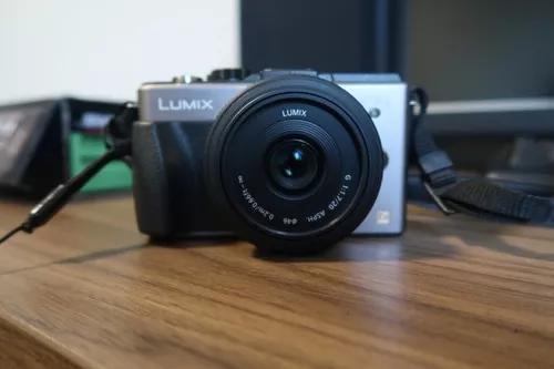 Câmera panasonic micro 3/7 dmc-gx1 com lente f1.7