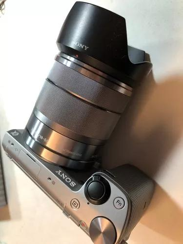 Câmera sony nex 5t + lente 18 - 55 mm f/3.5-5.6 - completa