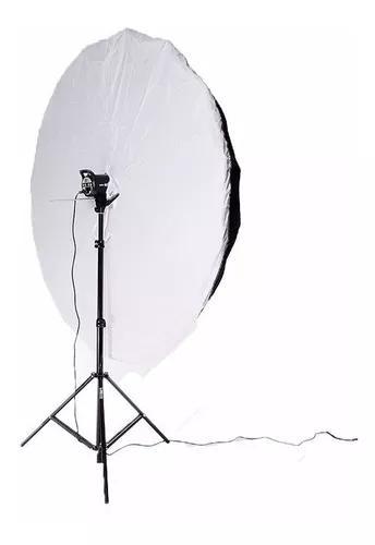 Conjunto newborn flash 300 w com sombrinha 180 cm