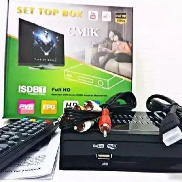 Conversor de tv sinal digital isdb-t set top box 1080p ful