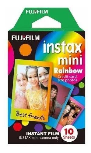 Filme instax mini rainbow kit c/ 10 fotos fuji cores