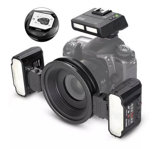 Flash macro twin lite meike mk-mt24 para câmeras canon dslr