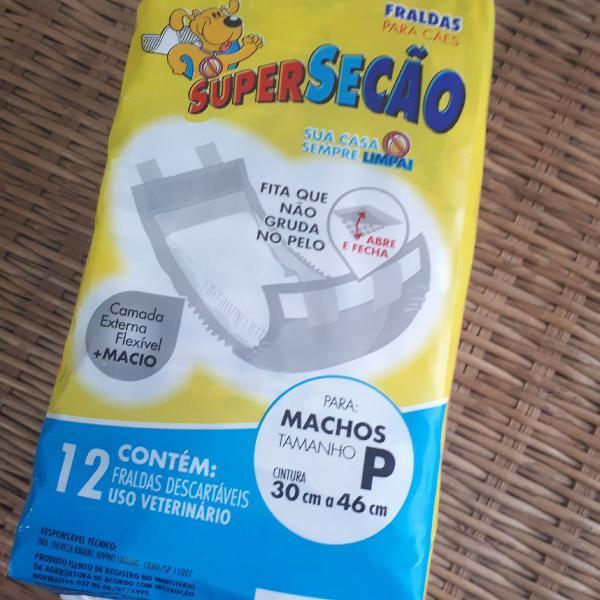 Fralda Descartável para Macho Super Secão Petix 12