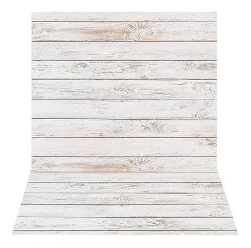 Fundo fotografico madeira clara newborn 1,5x2,2mt - ideal