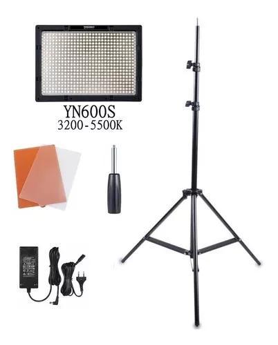 Iluminador de led yongnuo yn-600s completo com fonte e