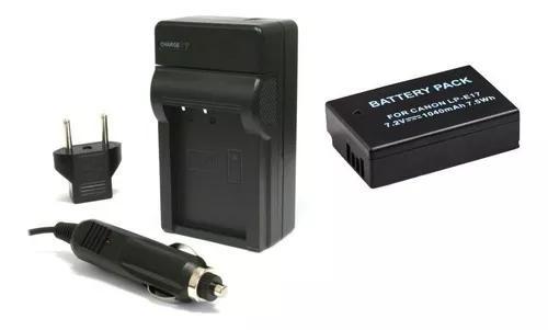 Kit 1 bateria lp-e17 + carregador para eos rebel t6i t6s sl2