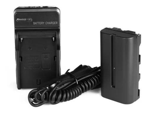 Kit bateria np-f570 p/ iluminador yongnuo yn300 + carregador