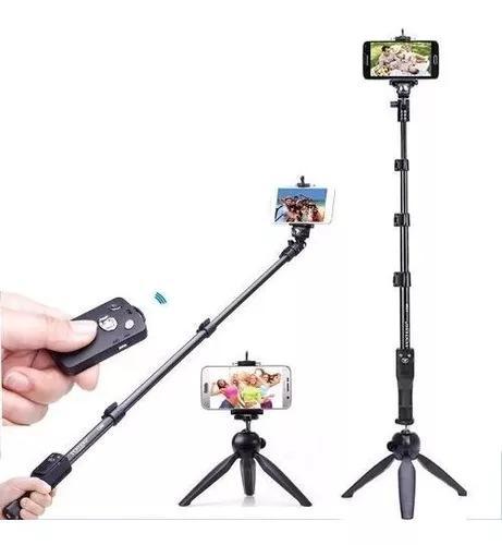 Kit mini tripé bastão pau selfie monopod 1288 yunteng
