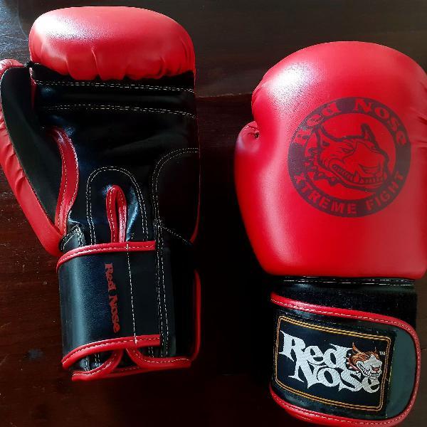 Luva de muay thai/boxe 14oz red nose