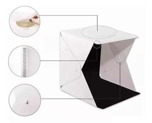 Mini estúdio fotográfico led pasta portátil 40x40x40