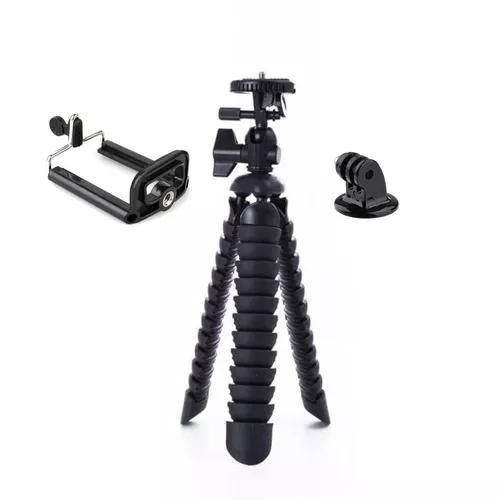 Mini tripé 25 cm octopus cameras nikon suporte celular