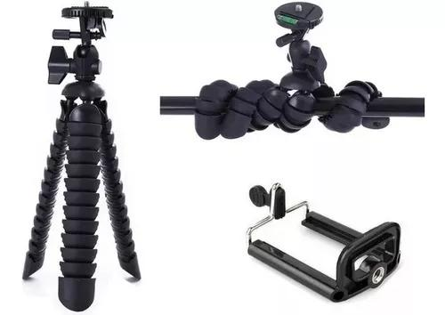 Mini tripé mesa octopus cameras nikon suporte celular