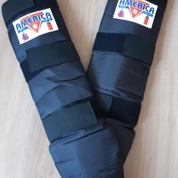 Protetor de canela para esporte - novo- américa