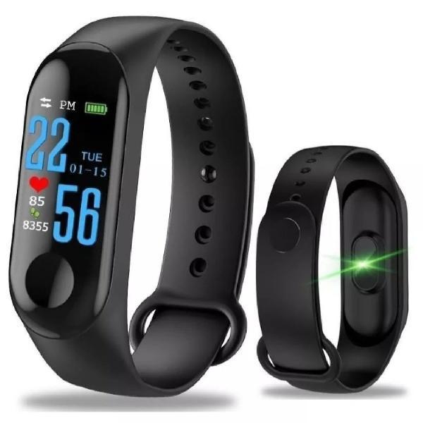 Relógio pulseira de corrida monitor cardíaco m3 preto