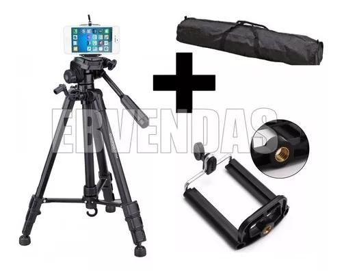 Tripé alumínio black profissional câmera nikon canon