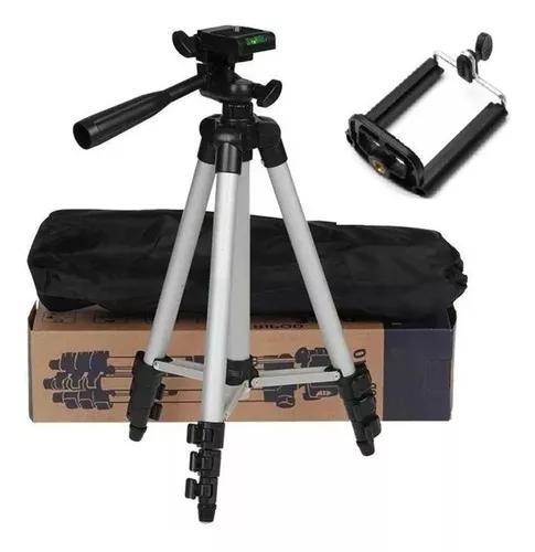 Tripé telescópico universal câmera projetor celular 1,02m