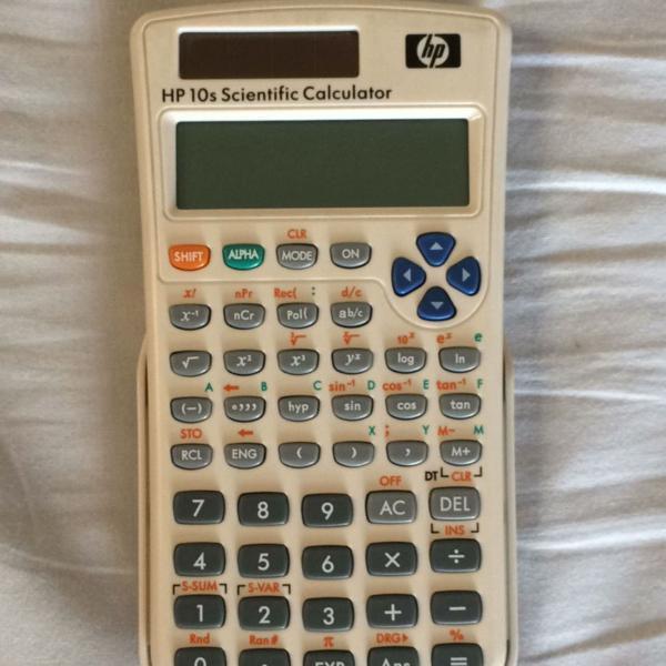 Calculadora científica hp 10s branca