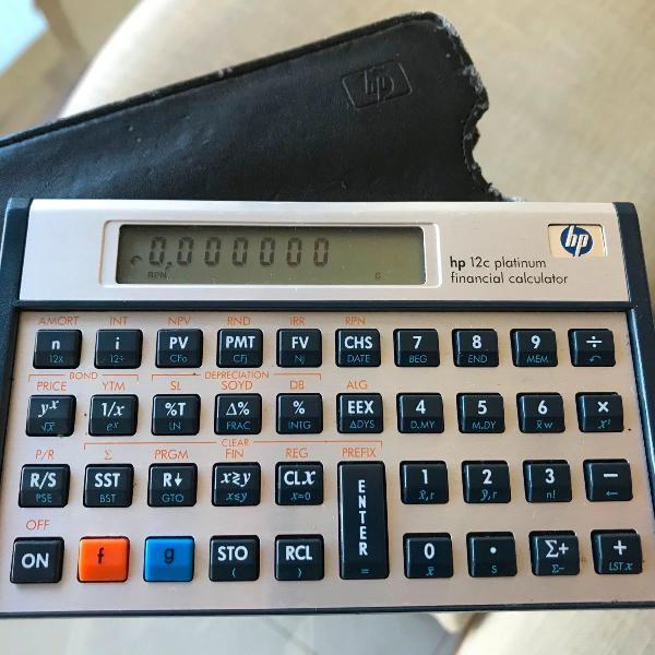 Calculadora financeira hp 12c platinum usada
