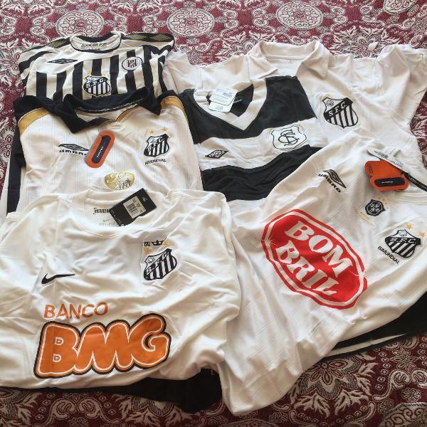 Camisas oficiais do santos futebol clube