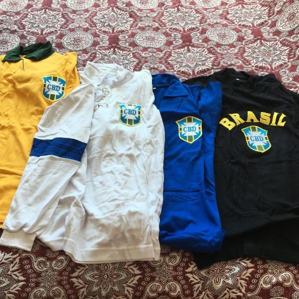 Camisas retrô da seleção brasileira de futebol cbd