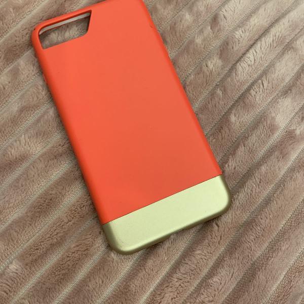 Capa para iphone 7/8 plus melancia com dourado