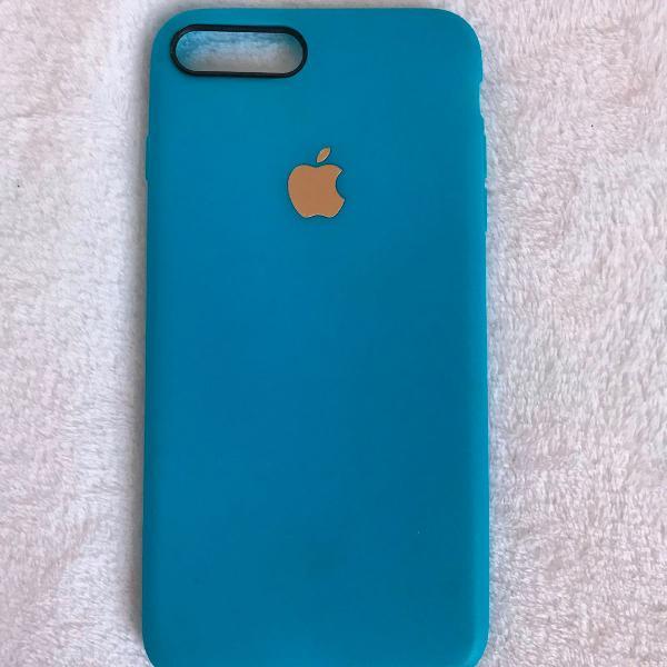 Capinha azul iphone 7 plus/ 8 plus