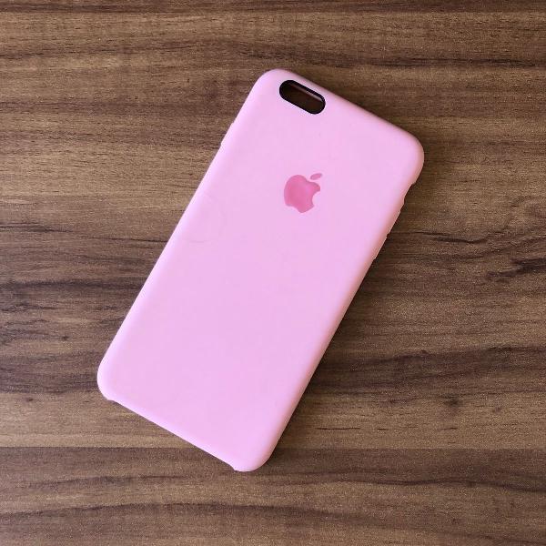 Capinha/case rosa lisa rígida para iphone 6 plus/6s plus