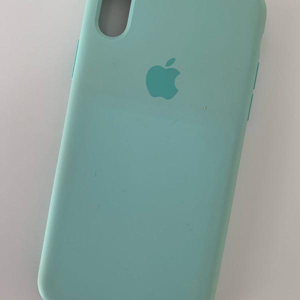 Case de silicone   iphone   azul bebê