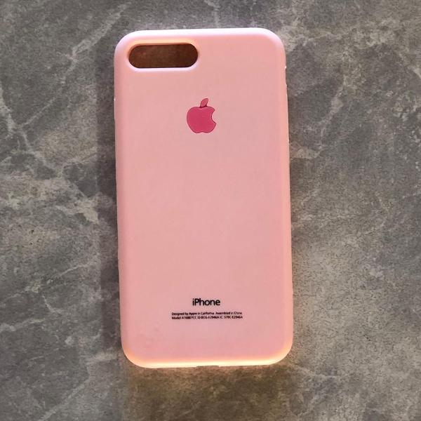Case silicone rosa iphone 7 / 8 plus