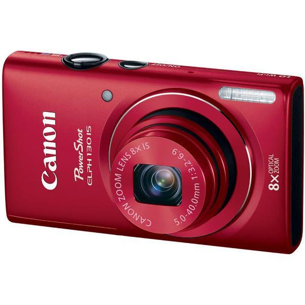 Câmera canon powershot vermelha