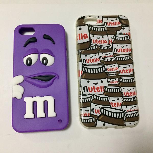 Combo 2 capas: m&m iphone 5/5s e nutella iphone 6/6s